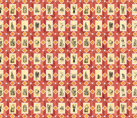 Five Children and It endpapers fabric by paul-ny on Spoonflower - custom fabric