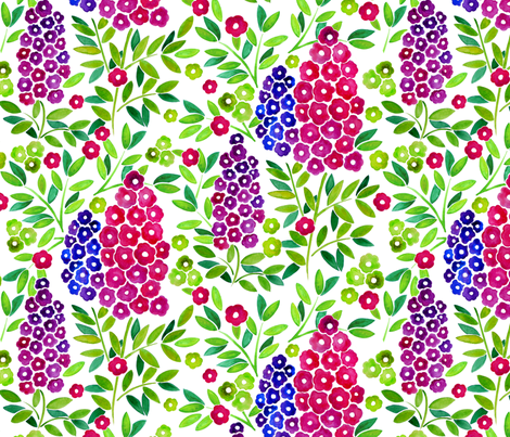 Blooming lilacs fabric by valley_designs on Spoonflower - custom fabric
