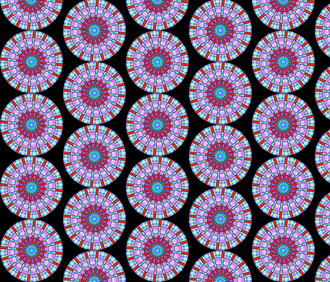 Flower Mandala 2 fabric by dovetail_designs on Spoonflower - custom fabric