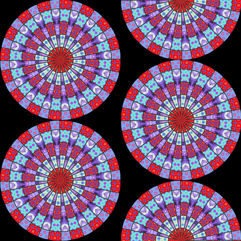 Flower Mandala 1 fabric by dovetail_designs on Spoonflower - custom fabric