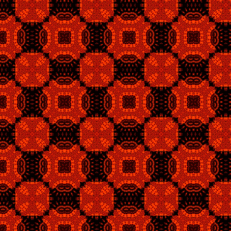 Baroque Checkerboard fabric by dovetail_designs on Spoonflower - custom fabric