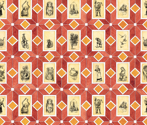 Five_Children_full_scale fabric by paul-ny on Spoonflower - custom fabric