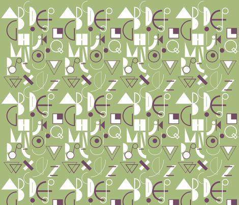 geometric abecedarian - lisaekström fabric by lisaekström on Spoonflower - custom fabric
