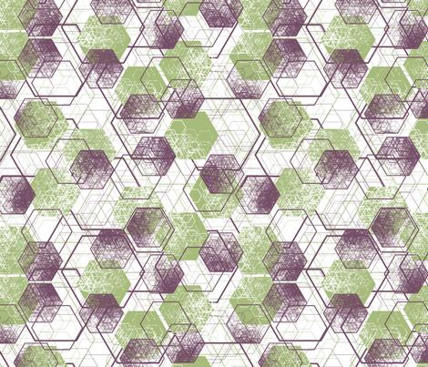a million hexagons fabric by meduzy on Spoonflower - custom fabric
