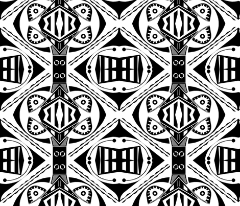 Black and White Abstract fabric by whimzwhirled on Spoonflower - custom fabric