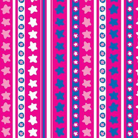 Stars in Stripes fabric by ghennah on Spoonflower - custom fabric