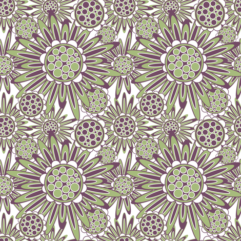 Flower_Power_Groove fabric by groovity on Spoonflower - custom fabric