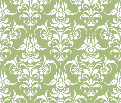 Celadon Damask fabric by peacoquettedesigns on Spoonflower - custom fabric