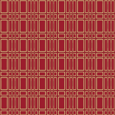 Geranium Red Squares © Gingezel™ 2012 fabric by gingezel on Spoonflower - custom fabric