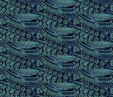 Smith Corona Typewriter fabric by luckygirl_eleven on Spoonflower - custom fabric