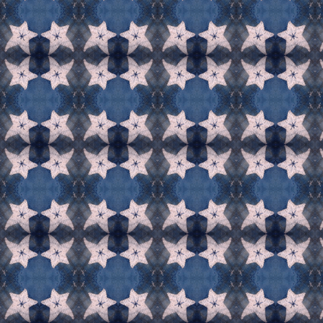Indigo and Stars ©LLausen fabric by woolyredrug on Spoonflower - custom fabric