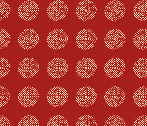 Kimono Red fabric by rima on Spoonflower - custom fabric