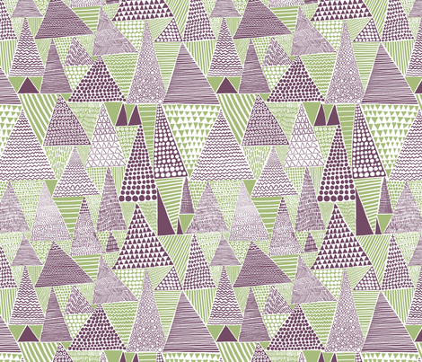 triangles fabric by jeannemcgee on Spoonflower - custom fabric