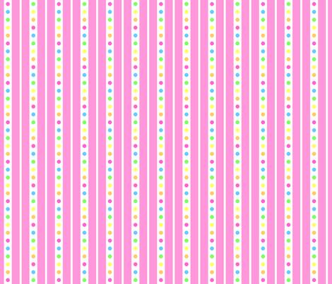 Sprinkle Stripe Pink fabric by modgeek on Spoonflower - custom fabric