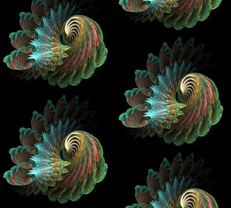 peacock original color fabric by rickchapman on Spoonflower - custom fabric