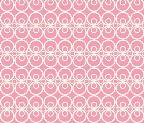 Circle Time Pink fabric by audreyclayton on Spoonflower - custom fabric