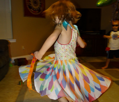 Feather Flower circle skirt