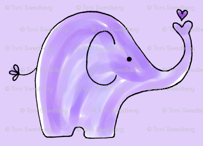 Purple Elephants - Larger Version