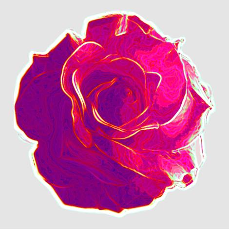 big pink rose fabric by keweenawchris on Spoonflower - custom fabric