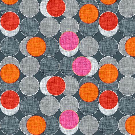 Dickinsonia Disks fabric by spellstone on Spoonflower - custom fabric