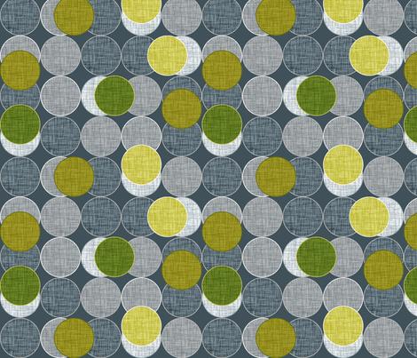 Dickinsonia Disks Lime fabric by spellstone on Spoonflower - custom fabric