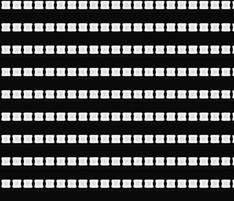 White Lozenge Stripe on Black © Gingezel™ 2012 fabric by gingezel on Spoonflower - custom fabric