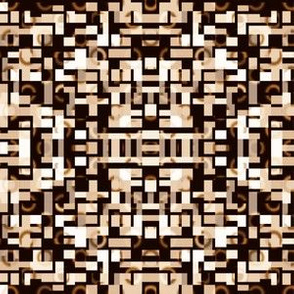 Brown and Black Pixel Mosaic Geometric © Gingezel™ 2012