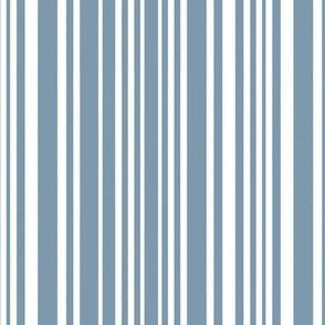 Happy Little Hands & Feet - White Stripes on Blue