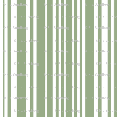 Happy Little Hands & Feet - White Stripes on Green