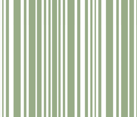 Happy Little Hands & Feet - White Stripes on Green fabric by designbypia on Spoonflower - custom fabric