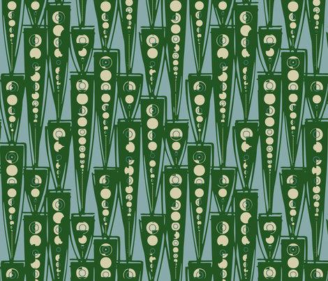 Green Sound fabric by ormolu on Spoonflower - custom fabric