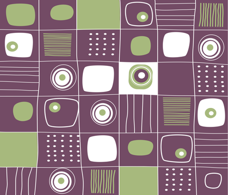 GEO GRID 01 fabric by deeniespoonflower on Spoonflower - custom fabric