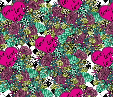 Love Love Love fabric by glanoramay on Spoonflower - custom fabric