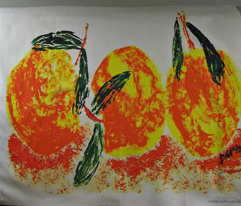 Peaches Three Large Scale Basic Repeat