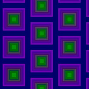 Concentric Squares   -purple and green