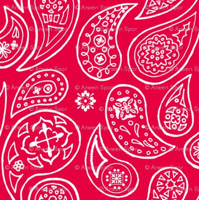 Red Pepper Paisleys