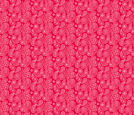 Red Pepper Paisleys fabric by evenspor on Spoonflower - custom fabric