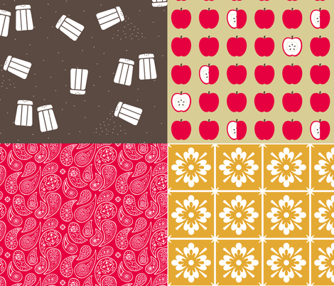 Salt 'n Pepper Color Coordinates 4-in-1 fabric by evenspor on Spoonflower - custom fabric