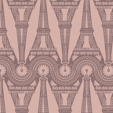 Eiffel Geometric - Blush fabric by bussybuffu on Spoonflower - custom fabric