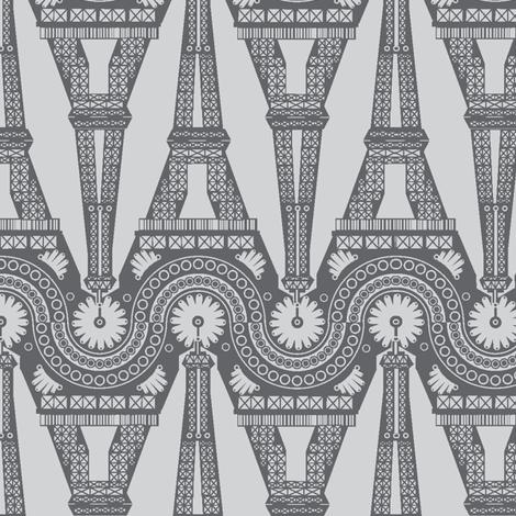 Eiffel Geometric fabric by bussybuffu on Spoonflower - custom fabric