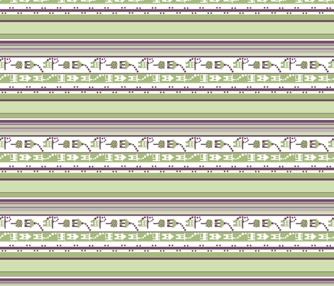 Little Houses Stripe_lengthwise print fabric by tallulahdahling on Spoonflower - custom fabric