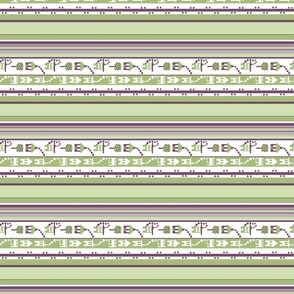 Little Houses Stripe_lengthwise print