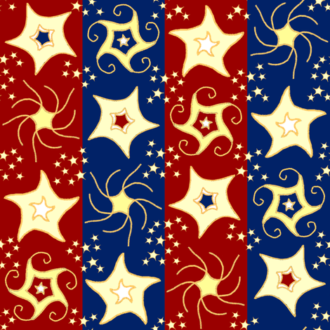 Embroidered_stars_small_stars fabric by khowardquilts on Spoonflower - custom fabric