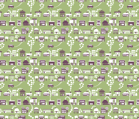 Little House Geometry_small fabric by tallulahdahling on Spoonflower - custom fabric