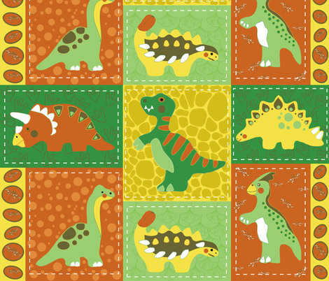 dino_patch fabric by kirpa on Spoonflower - custom fabric
