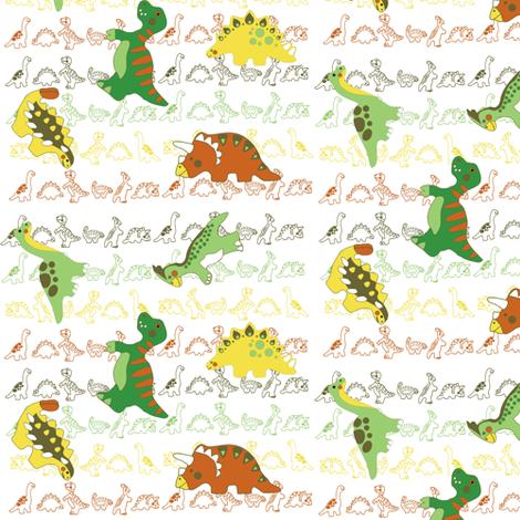 dino fabric by kirpa on Spoonflower - custom fabric