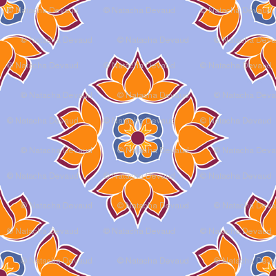 Lotus Flower Blue BG