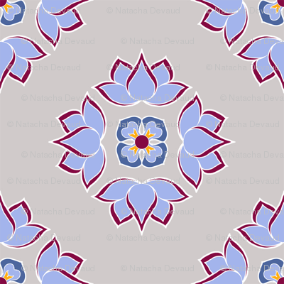Lotus Flower Silver BG