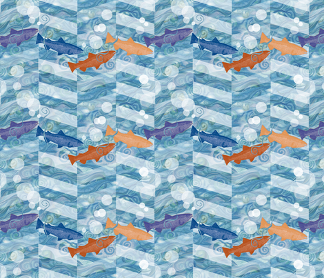 FiShevron fabric by twobloom on Spoonflower - custom fabric