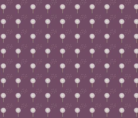 Dandelion Row fabric by taramcgowan on Spoonflower - custom fabric